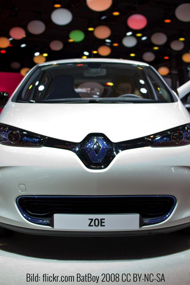 Die Renault Zoe auf dem Pariser Autosalon 2012 (flickr.com BatBoy 2008 CC BY-NC-SA)