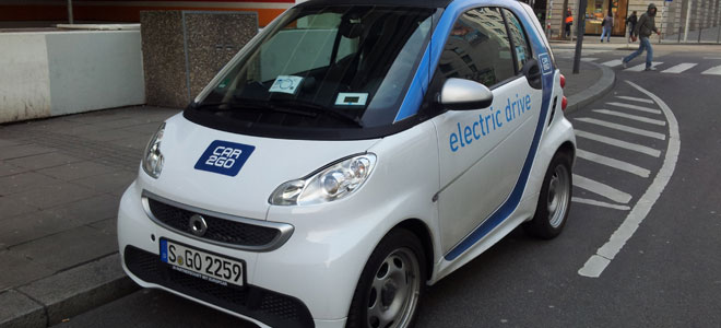 Mit dem Car2go Smart ED zum Bahnhof