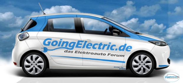 Zoe mit Going Electric Schriftzug - Design: STEN @Goingelectric Froum