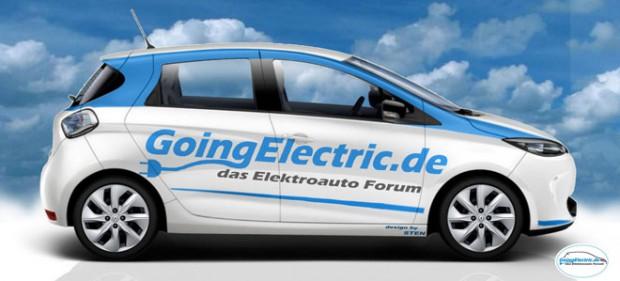 Zoe mit Going Electric Schriftzug - Design: STEN @Goingelectric Froum