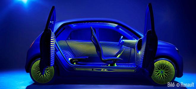Twin'Z - Wo ist die Rückenlehne der Rückbank? (Bild: © Renault)