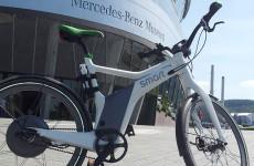 Nach der Testfahrt etwas staubig. Das Smart Electric Bike.