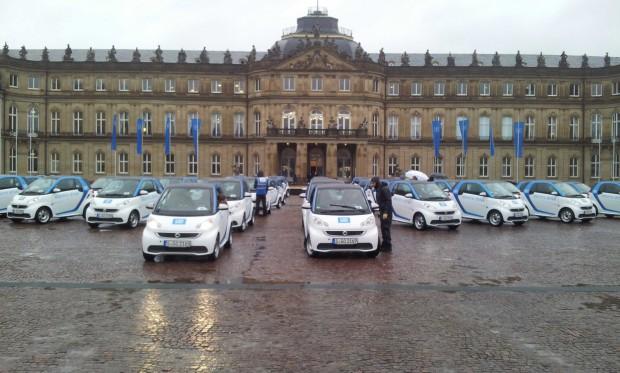 Präsentation der car2fo Smart ED-Flotte in Stuttgart